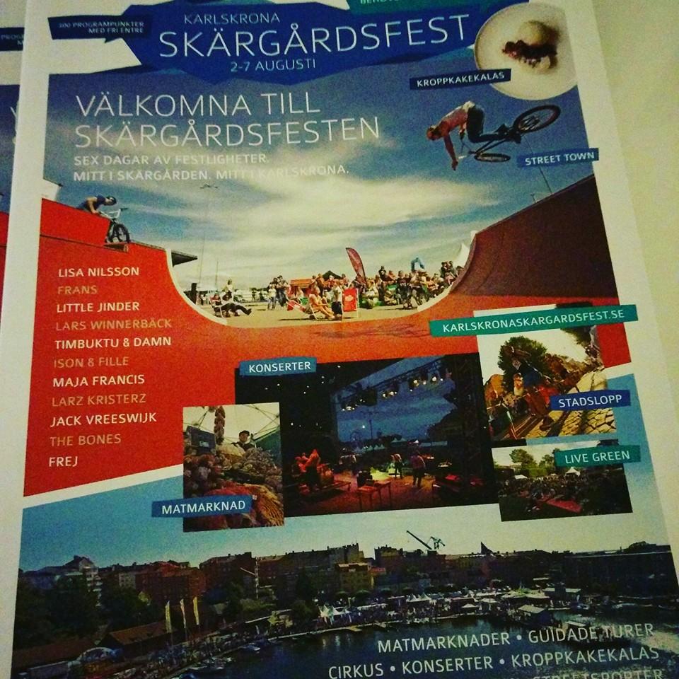 Karlskrona skärgårdsfest Futurepromotion