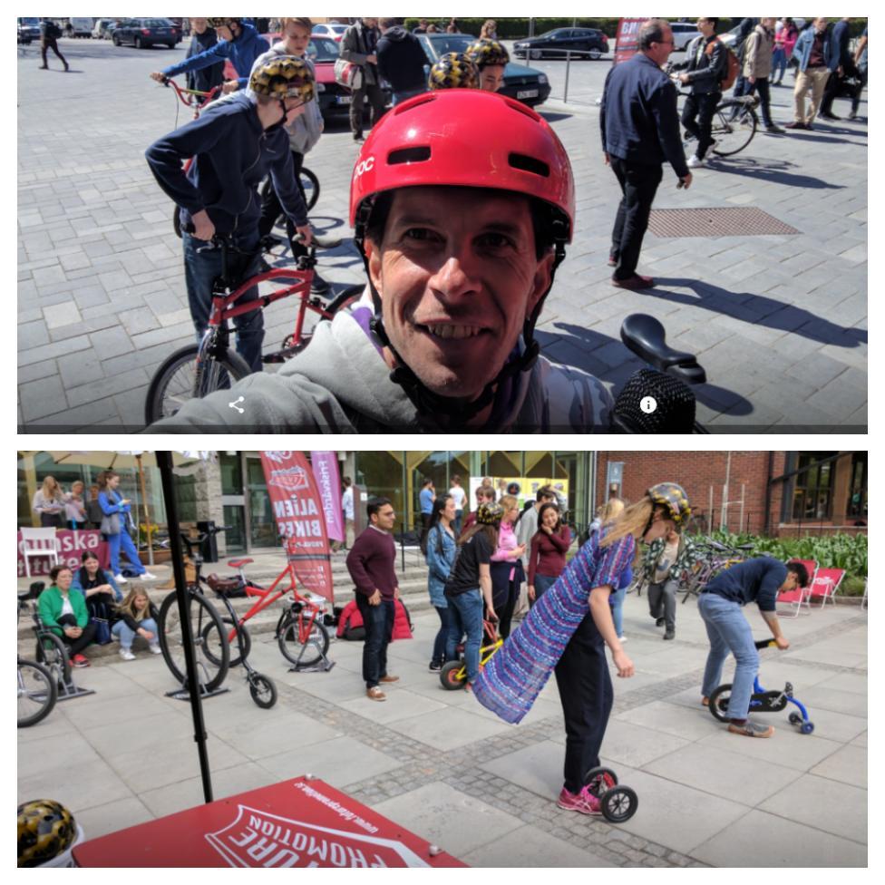 Cykelns dag KTH Campus Solna Stureby skolan