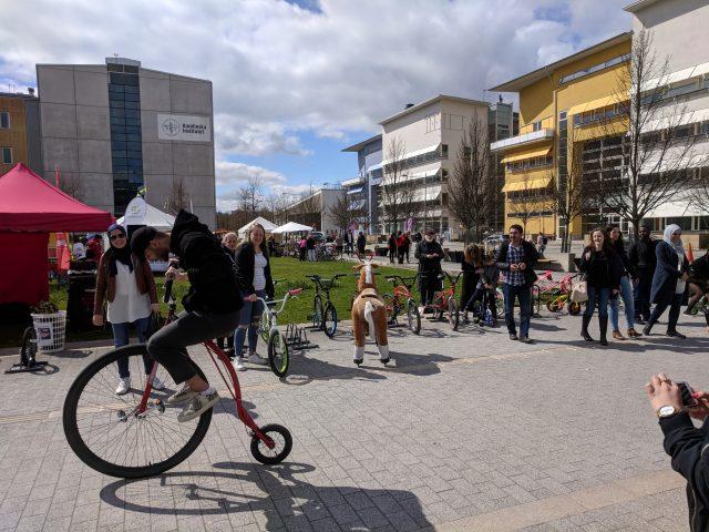 Flemingsberg KTH, KI, Cykelnsdag
